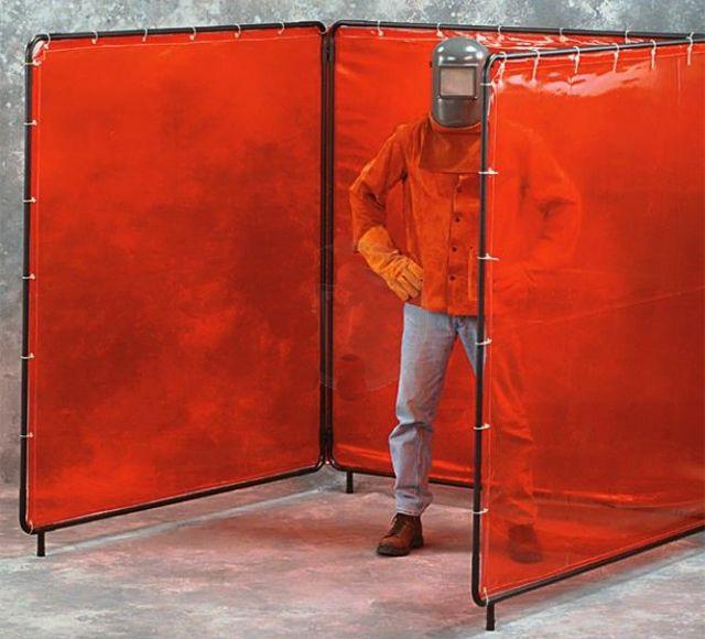 venta-de-mamparas-para-soldar-con-lona-roja-transparente-monterrey
